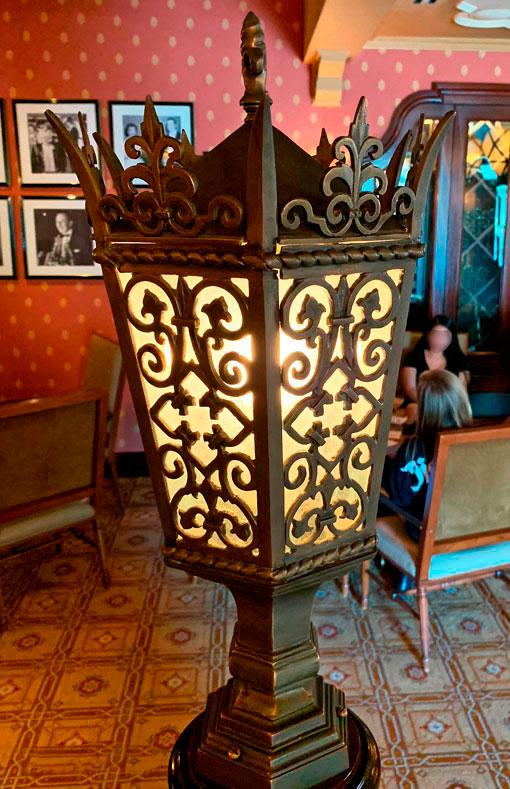 Light fixture at Carthay Circle Lounge in Disney California Adventure Park in Disneyland CA