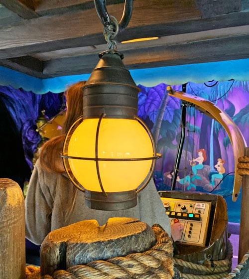 Nautical Light fixture and rope at Peter Pan's Flight in Fantasyland Disneyland