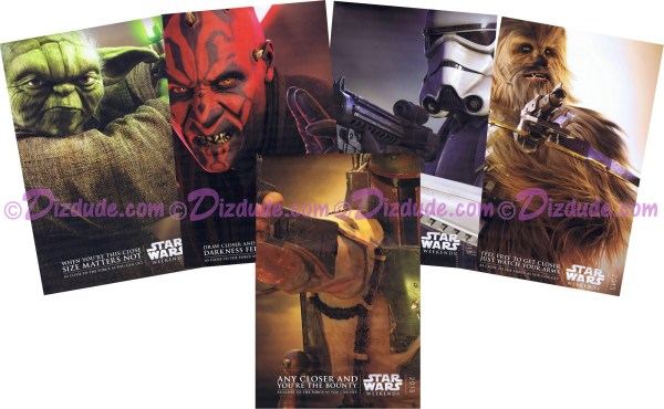 Disney Star Wars Weekends 2015 Full Set Of 5