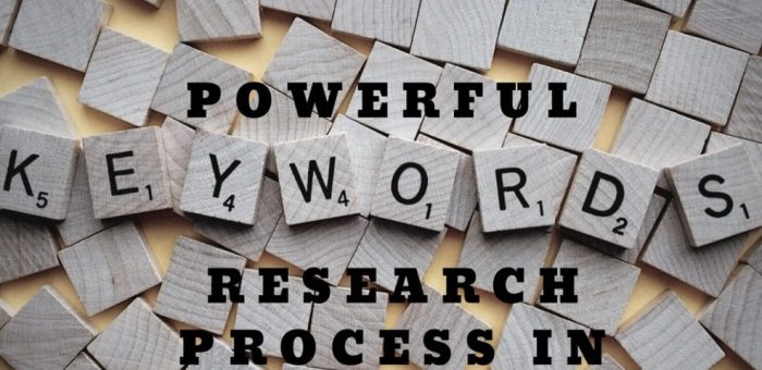 Powerful Keyword Research Process in 2018