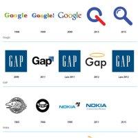 L'évolution des Logos Apple, Starbucks... après 2011.