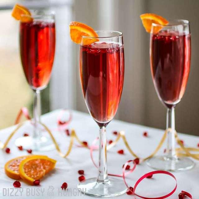 Pomegranate Orange Spritzer | DizzyBusyandHungry.com - Easy, delicious, fun, and festive!