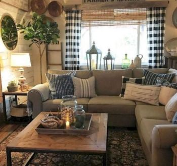 20 + Home Decor Ideas Living Room Rustic Farmhouse Style Ideas 18