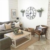 20 + Home Decor Ideas Living Room Rustic Farmhouse Style Ideas 25
