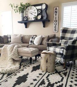 20 + Home Decor Ideas Living Room Rustic Farmhouse Style Ideas 27