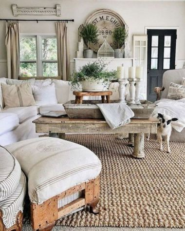 20 + Home Decor Ideas Living Room Rustic Farmhouse Style Ideas 41