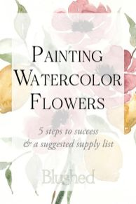 33 + Most Popular Ways To Watercolor Paintings Easy Step By Step Flower 17
