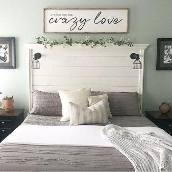 50+ Unbelievable Master Bedroom Ideas Rustic Farmhouse Style Decor 26