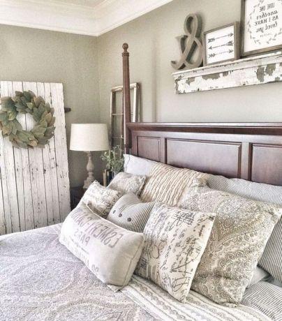 50+ Unbelievable Master Bedroom Ideas Rustic Farmhouse Style Decor 37