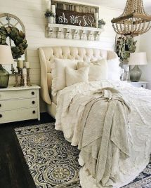50+ Unbelievable Master Bedroom Ideas Rustic Farmhouse Style Decor 4