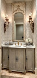 The Secret To French Country Bathroom 33