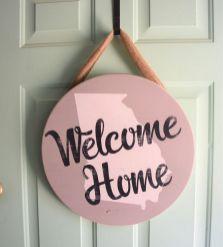 The War Against Welcome Sign Front Door 130