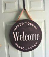 The War Against Welcome Sign Front Door 144
