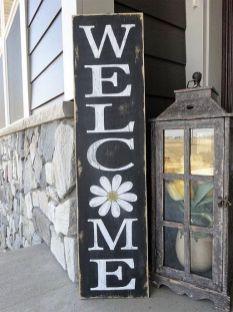 The War Against Welcome Sign Front Door 161