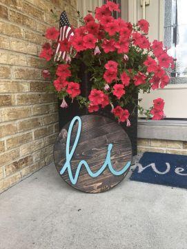 The War Against Welcome Sign Front Door 242