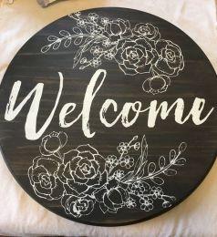 The War Against Welcome Sign Front Door 266