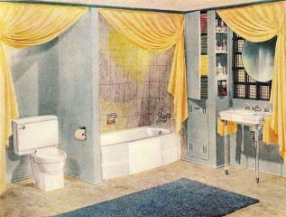 35+ The Appeal Of Yellow Bathroom Decor 214