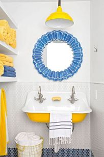 35+ The Appeal Of Yellow Bathroom Decor 283