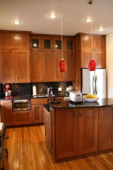 40+ Cherry Wood Kitchen Cabinets Options 137