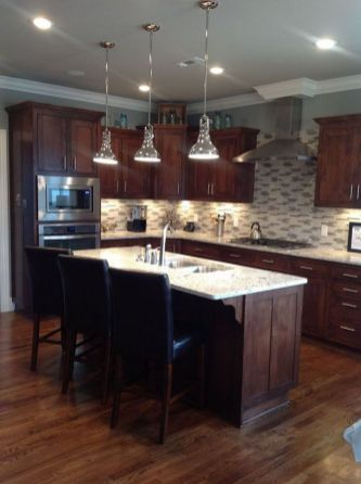 40+ Cherry Wood Kitchen Cabinets Options 139