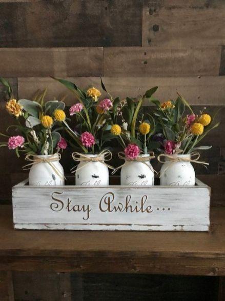 40+ Farmhouse Floral Arrangement , Ideas 265