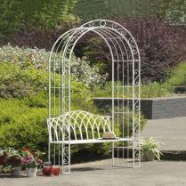 35+ Top Guide Of Metal Garden Arbor Trellis With Gate Scroll Design Arch Climbing Plants 106