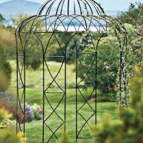 35+ Top Guide Of Metal Garden Arbor Trellis With Gate Scroll Design Arch Climbing Plants 123