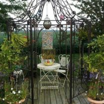 35+ Top Guide Of Metal Garden Arbor Trellis With Gate Scroll Design Arch Climbing Plants 128