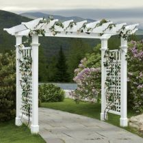 35+ Top Guide Of Metal Garden Arbor Trellis With Gate Scroll Design Arch Climbing Plants 153