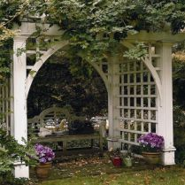 35+ Top Guide Of Metal Garden Arbor Trellis With Gate Scroll Design Arch Climbing Plants 287
