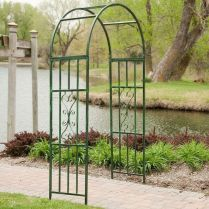 35+ Top Guide Of Metal Garden Arbor Trellis With Gate Scroll Design Arch Climbing Plants 303