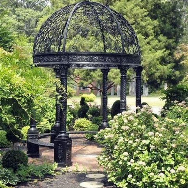 35+ Top Guide Of Metal Garden Arbor Trellis With Gate Scroll Design Arch Climbing Plants 59