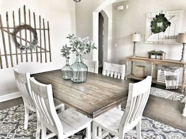 37+ Instant Solutions For Farmhouse Dinning Room 14