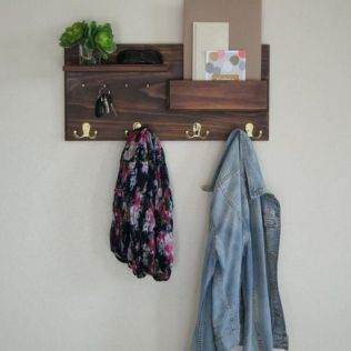 37+ The Nuiances Of Entryway Organizer Mail Key Holder Coat Rack Key Hooks Wall Coat Hook Shelf 100