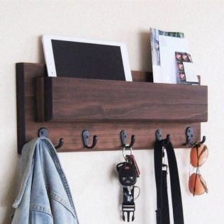 37+ The Nuiances Of Entryway Organizer Mail Key Holder Coat Rack Key Hooks Wall Coat Hook Shelf 117