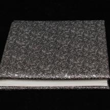 01.A Album Digital Nunta 30x30 cm. Piele ecologica alba + gri floral + fotografie