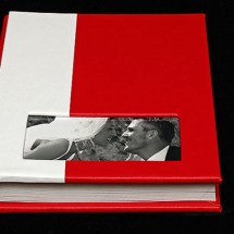 06.FAlbum Digital Nunta 30x30 cm. Piele ecologica alba + gri floral + fotografie