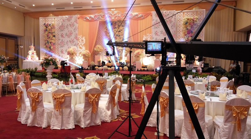 Filmare cu MACARA Video la Nunta sau Botez