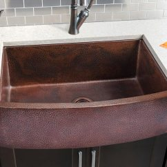 Hahn Kitchen Sinks Moen Hahn-copper-extra-large-single-curved-bowl-sink