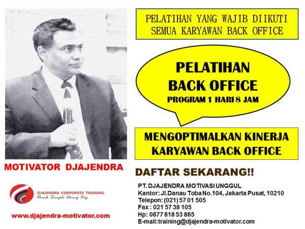 PROGRAM PELATIHAN BACK OFFICE
