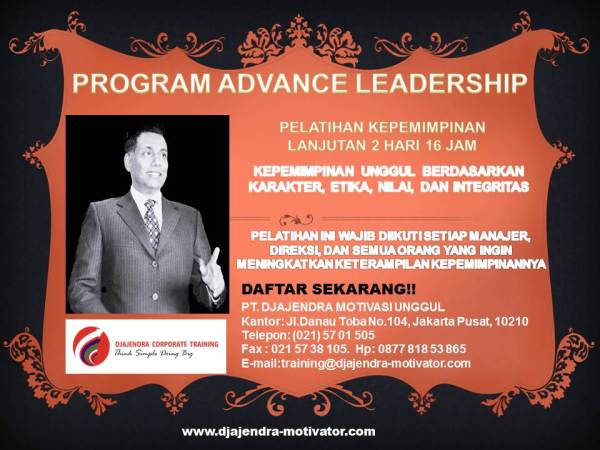 PELATIHAN ADVANCE LEADERSHIP 2 HARI DJAJENDRA