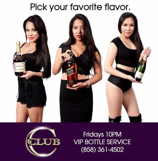 VIP bottle service Club C