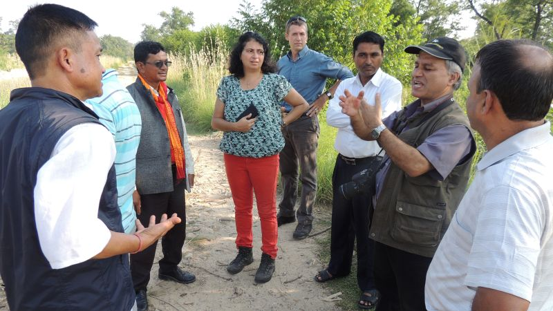 IWMI scientists meet with water stakeholders in Far West Nepal.