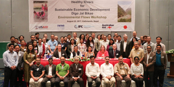 Participants of the Environmental Flows workshop spanned the private sector, government, NGOs, and research institutes.