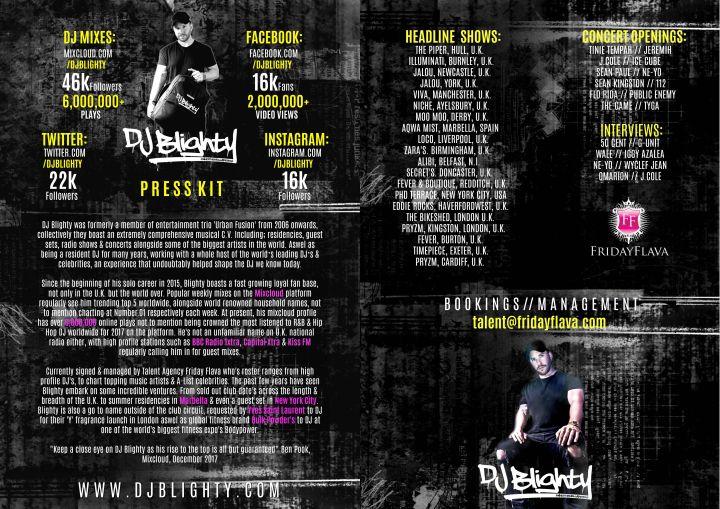 DJ Blighty Press Kit