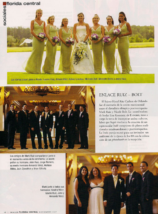 Imagen magazine - Mark Ruiz wedding