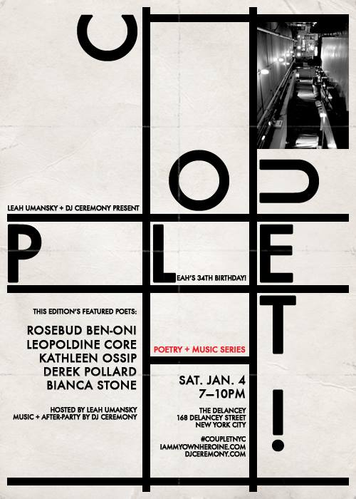 DJ Ceremony spins at Couplet—Poetry and Music Series