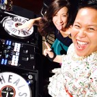 DJing NYC with my troublemaker assistant and tour photographer Jen Maler