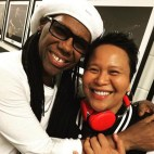 My healing brother! Backstage at CHIC/Duran Duran, Barclays Center NYC