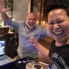 DJing at L'Apicio NYC, this is my Heritage Radio Network Host Brother, the one and only, Jimmy Carbone!
